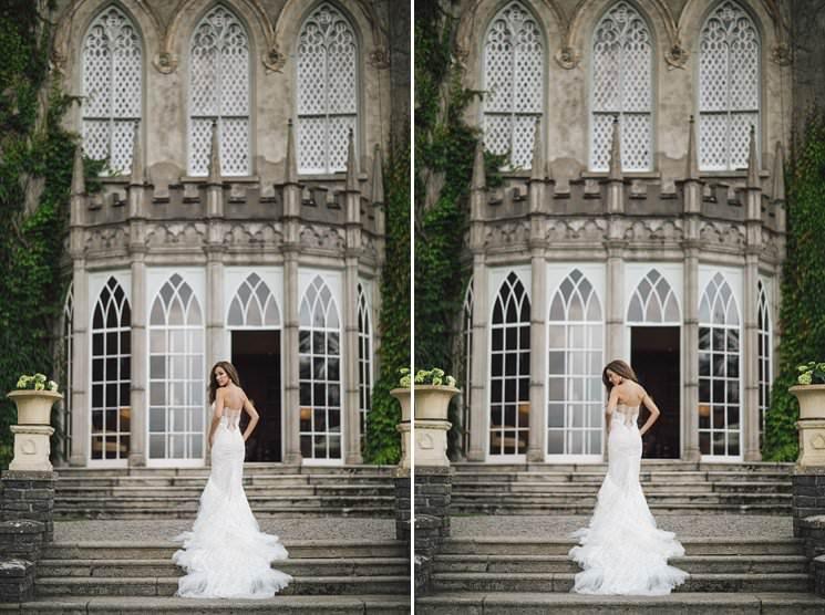 Luttrellstwon castle wedding bride - wedding photographer 0002