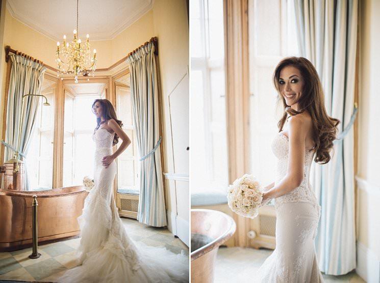 Luttrellstwon castle wedding bride - wedding photographer 0003