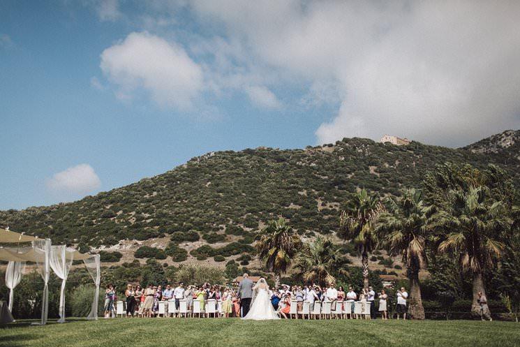 outdoor wedding in italy