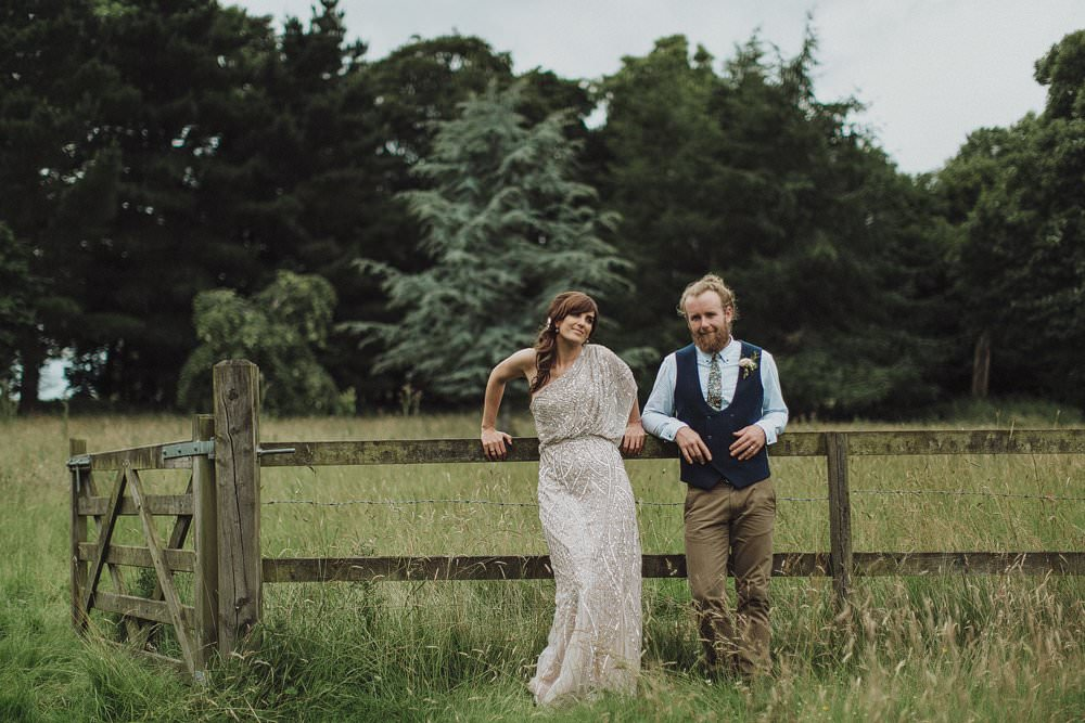 Killyon Manor wedding - woods outdoor ceremony of Roise&Aidan 1