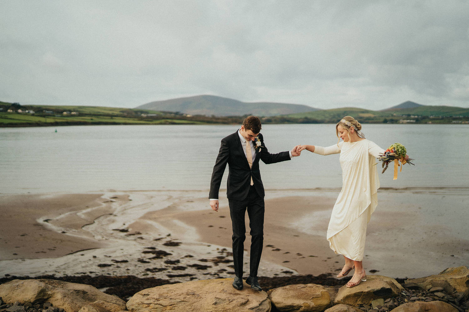 Aileen & Diarmuid relaxed wedding day at Ballintaggart House - Dingle wedding 3