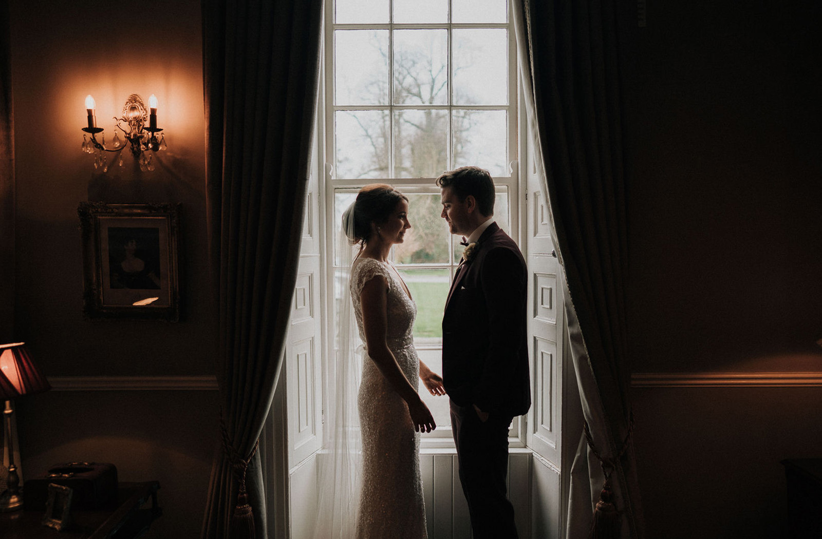 Window portrait at Bellingham castle - Ireland 1