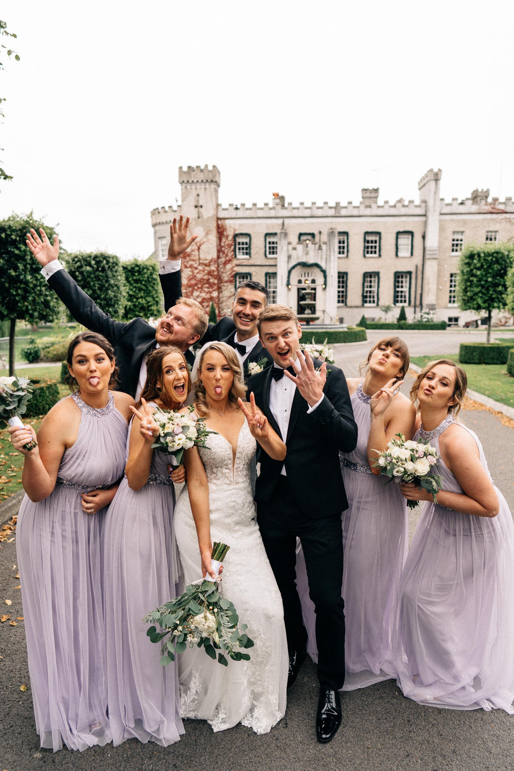 bridal party at the bellingham castle 3