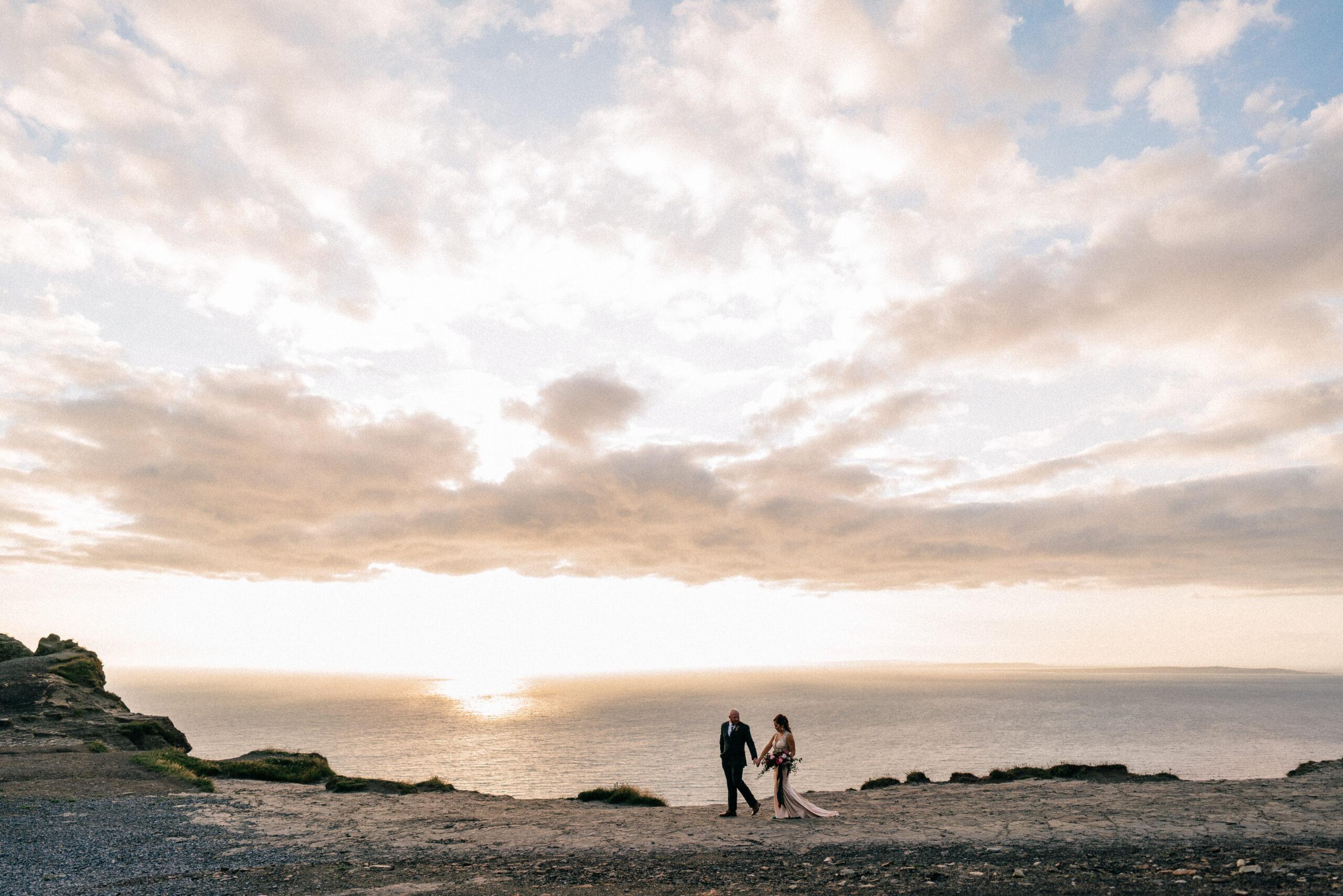 Elopement in Ireland Cliffs of Moher